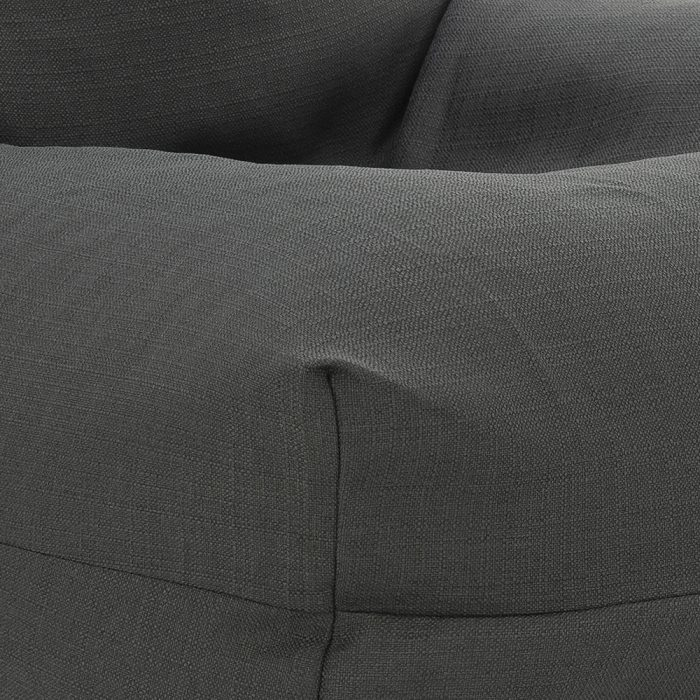 Close up of the dark grey shadow linen look material