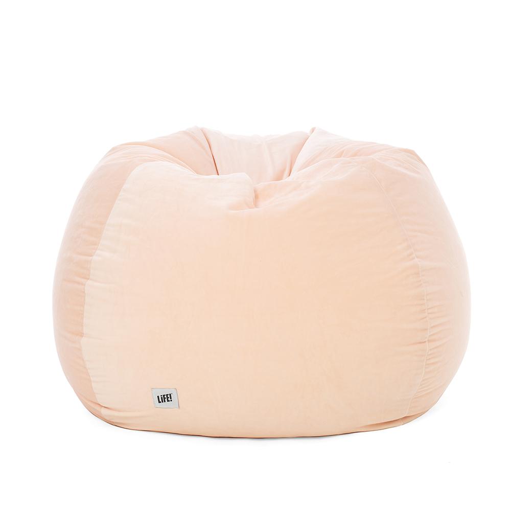 sherbet velvet supersize teardrop bean bag looking rounded